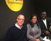 Bill Luse and Clifton Clarke with Karen Dumas