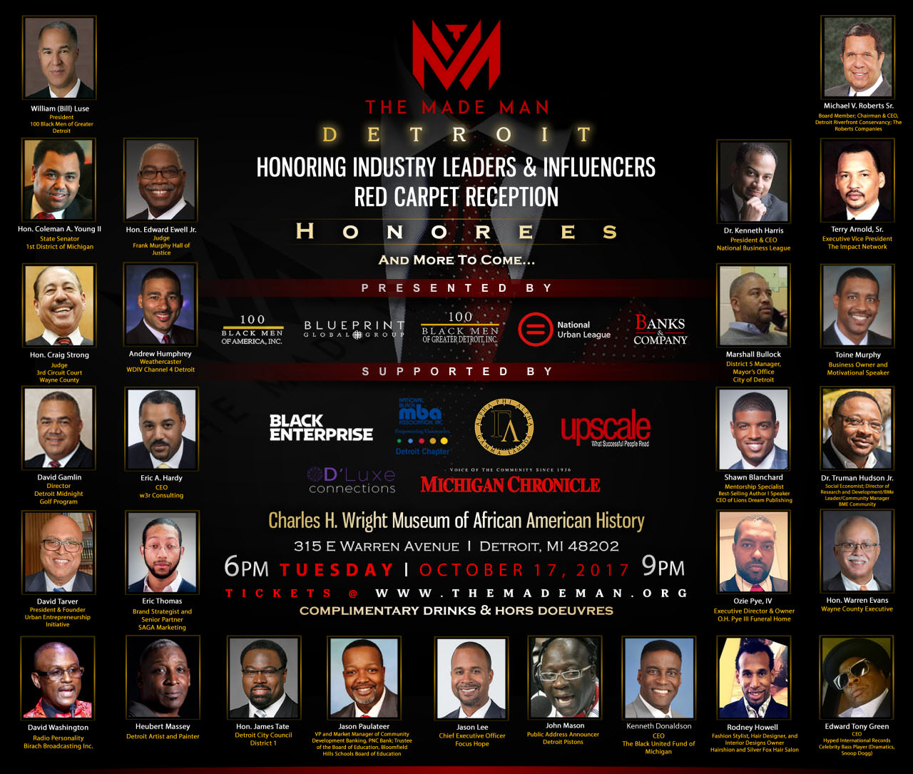 The Made Man - Detroit Honorees