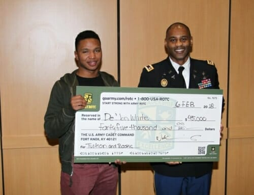 US Army Tours Wayne State with Cass Tech Students